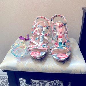 Naturalizer High Sandals Women's 8.5 Multicolor N